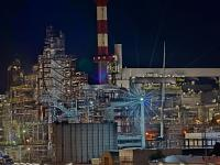 Schwechat Refinery at Night